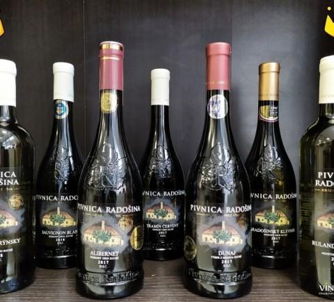 Fľaškové vína Pivnica Radošina