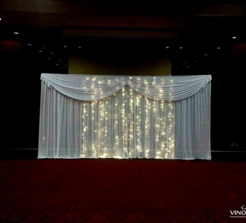 Svetelná stena na svadbu